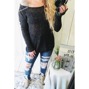 Express season of romance light weight sweater ☕️